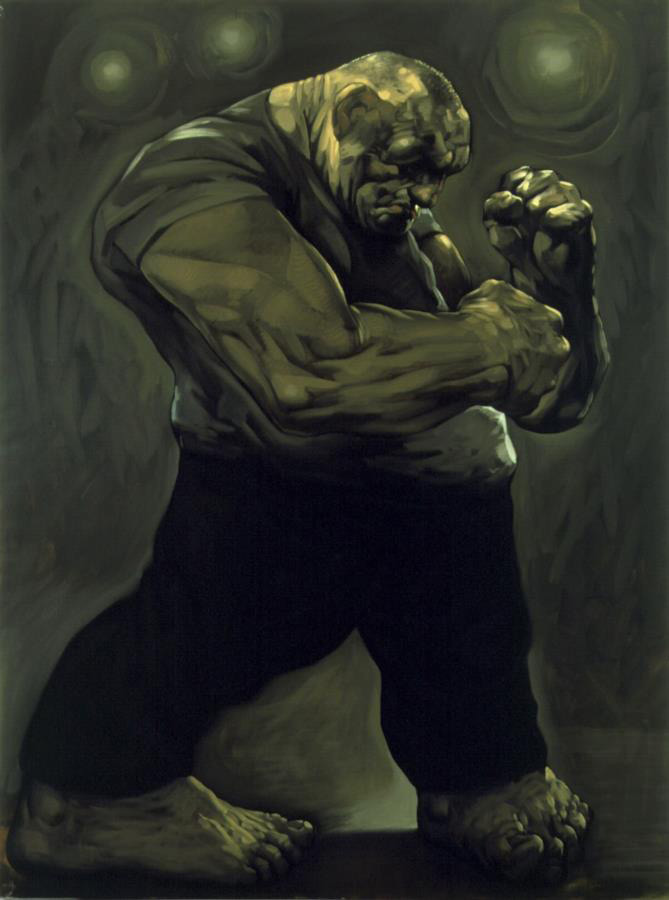 Peter Howson. Untitled, 1991. Oil on canvas, 244 x 183 cm. © Peter Howson, Flowers Gallery, Cork St, London.