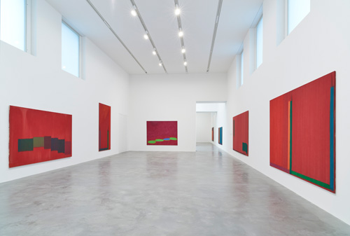 John Hoyland: Power Stations: Paintings 1964-1982, installation view, Gallery 1, Newport Street Gallery, London © Kioyar Ltd, Photograph: Prudence Cuming Associates.