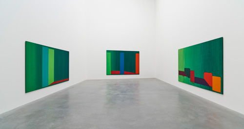 John Hoyland: Power Stations: Paintings 1964-1982, installation view, Gallery 2, Newport Street Gallery, London © Kioyar Ltd, Photograph: Prudence Cuming Associates.