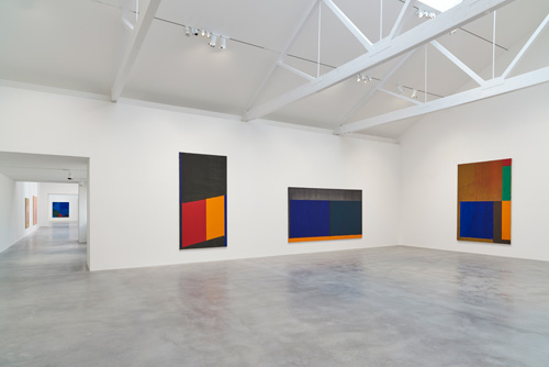 John Hoyland: Power Stations: Paintings 1964-1982, installation view, Gallery 4, Newport Street Gallery, London © Kioyar Ltd, Photograph: Prudence Cuming Associates.