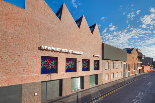 Newport Street Gallery, London. Facade. © Kioyar Ltd, Photograph: Prudence Cuming Associates.