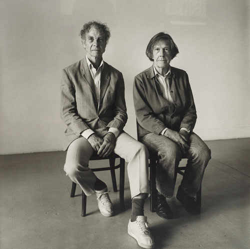 Peter Hujar. Merce Cunningham and John Cage Seated (II), 1986. © 1987 The Peter Hujar Archive LLC. Courtesy Maureen Paley, London; Pace/MacGill Gallery, New York.