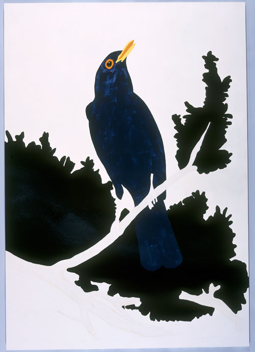 Gary Hume.Blackbird, 1998. Private collection, London.