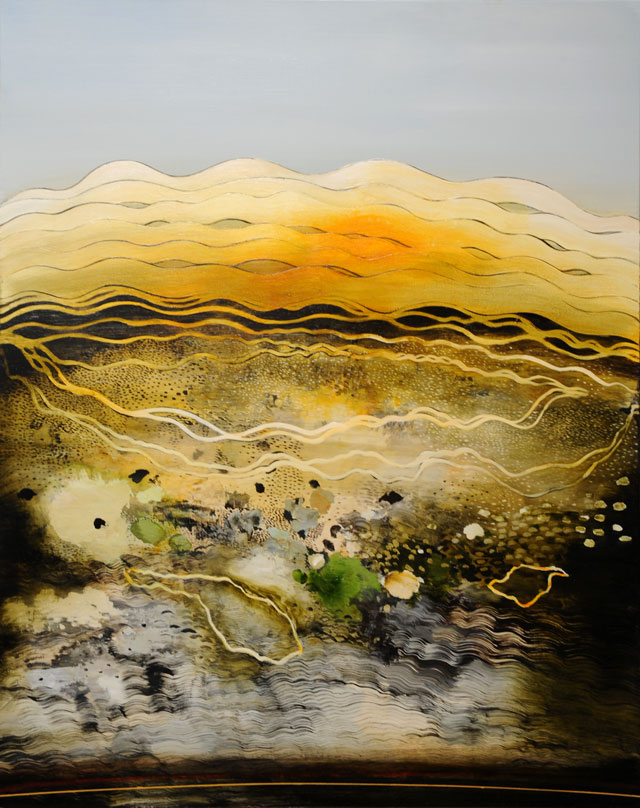 Philip Hunter. Geosphere no.3, 2015. Oil on linen, 153 x 122.5 cm. Copyright the artist. Courtesy Sophie Gannon Gallery.