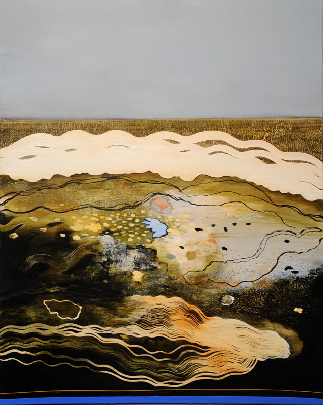 Philip Hunter. Geosphere no.4, 2015. Oil on linen, 153 x 122.5 cm. Copyright the artist. Courtesy Sophie Gannon Gallery.