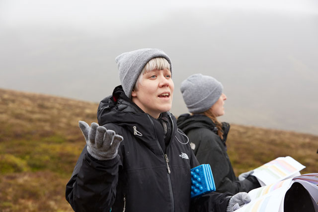 Simone Kenyon, Into The Mountain, performance, 30 May - 2 June 2019, Cairngorms National Park. Photo: Felicity Crawshaw / Scottish Sculpture Workshop.