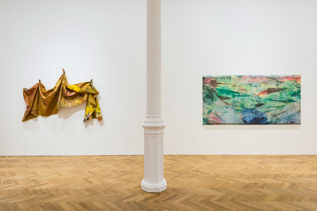 Sam Gilliam, installation view, Impulse, Pace Gallery, London, 2017.