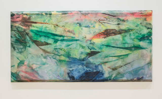 Sam Gilliam. May III, 1972. Acrylic on canvas on bevelled stretcher, 137 x 279 cm. Private collection.