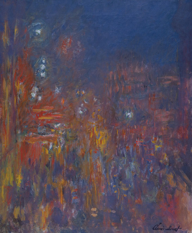 Claude Monet. Leicester Square, 1901. Oil paint on canvas, 80.5 x 64.8 cm. Coll. Fondation Jean et Suzanne Planque (in deposit at Musée Granet, Aix-en-Provence). Photograph: © Luc Chessex.