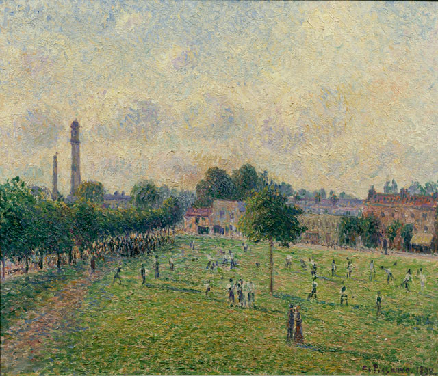 Camille Pissarro. Kew Green, 1892. Oil paint on canvas, 46 x 55 cm. Musee d'Orsay (Paris, France).
