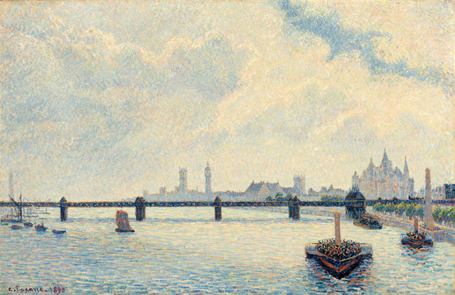 Camille Pissarro. Charing Cross Bridge, 1890. Oil paint on canvas, 60 x 92.4 cm. National Gallery of Art (Washington, USA).