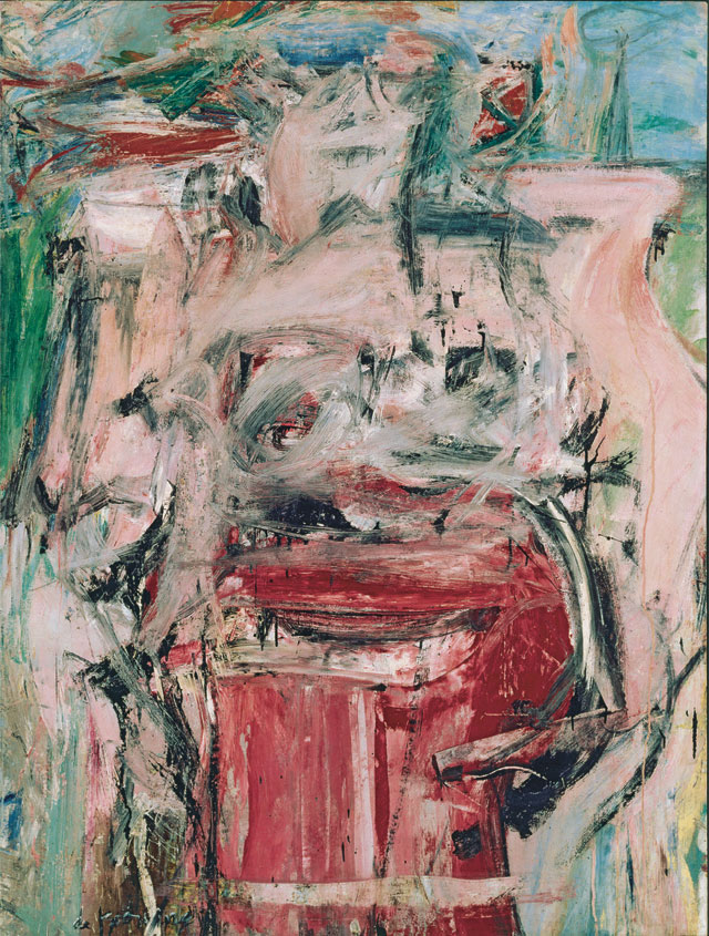 Willem de Kooning (American, 1904‒1997). Woman as Landscape, 1954‒5. Oil on canvas. Collection of Barney Ebsworth. © 2017 The Willem de Kooning Foundation/ Artists Rights Society (ARS), New York.