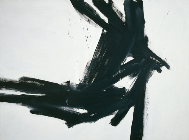 Franz Kline (American, 1910‒1962). Corinthian II, 1961. Oil on canvas. The Museum of Fine Arts, Houston, Bequest of Caroline Wiess Law. © 2017 The Franz Kline Estate / Artists Rights Society (ARS), New York.
