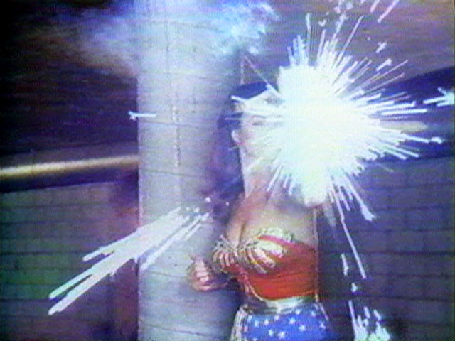 Dara Birnbaum, Technology/Transformation: Wonder Woman, 1978-9. Video, sound, 5:50 min, Courtesy of the artist and Electronic Arts Intermix.