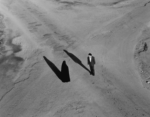 Shirin Neshat. <em>Fervor</em>, 2000. Two-channel black and      white video/audio installation. Courtesy Gladstone Gallery, New York.