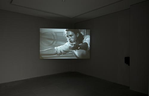Althea Thauberger. <em>Social Service &ne; Art Project</em>, 2006. Projected DVD. Photograph by Ken Adlard. Courtesy of the artist and Lisson Gallery, London &copy; Althea Thauberger, 2007