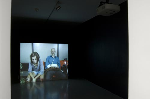 Judith Hopf. <em>Hospital Bone Dance</em>, 2006. DVD projection. Photograph by Ken Adlard. Courtesy of the artist and Lisson Gallery, London © Judith Hopf, 2007