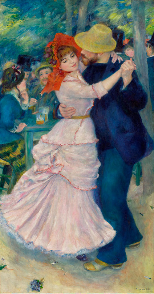 Pierre-Auguste Renoir. Dance at Bougival, 1883. Oil on canvas, 181.9 x 98.1 cm. Museum of Fine Arts, Boston. © 2014 Museum of Fine Arts, Boston.