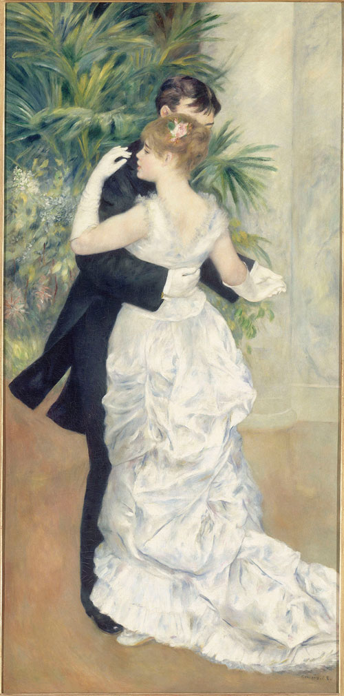 Pierre-Auguste Renoir. Dance in the City, 1883. Oil on canvas, 180 x 90 cm. Paris, Musée d'Orsay. © RMN-Grand Palais (musée d'Orsay)/Hervé Lewandowski.