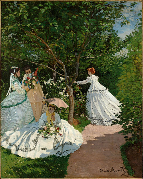 Claude Monet. Women in the Garden, 1866. Oil on canvas, 255 x 205 cm. Musée d'Orsay, Paris.