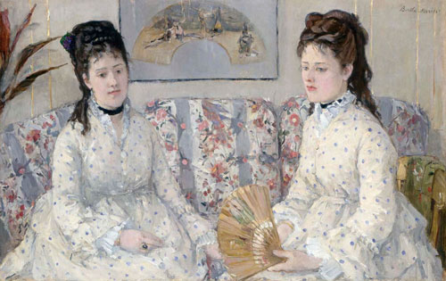 Berthe Morisot. The Sisters, 1869. Oil on canvas, 52.1 x 81.3 cm. National Gallery of Art, Washington, D.C. Gift of Mrs. Charles S. Carstairs.