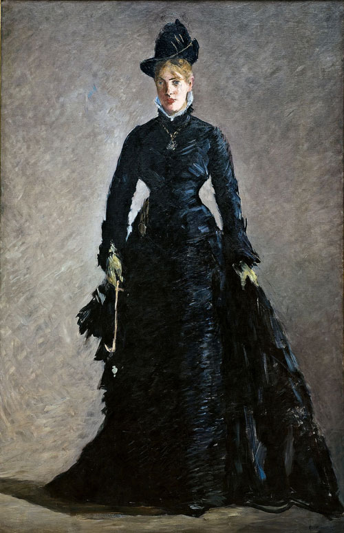 Édouard Manet. The Parisienne, ca. 1875. Oil on canvas, 192 x 125 cm). Nationalmuseum, Stockholm. Bequest 1917 of Bank Director S. Hult, Managing Director Kristoffer Hult, Director Ernest Thiel, Director Arthur Thiel, Director Casper Tamm.