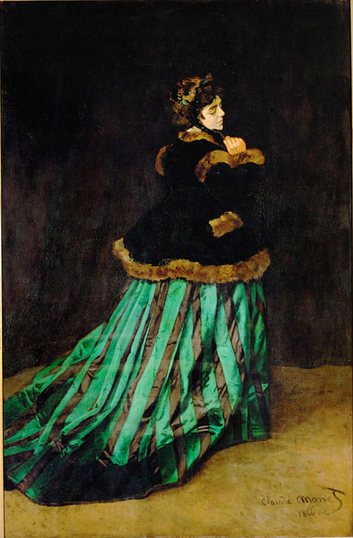 Claude Monet. Camille, 1866. Oil on canvas, 231 x 151 cm. Kunsthalle Bremen, Der Kunstverein in Bremen.