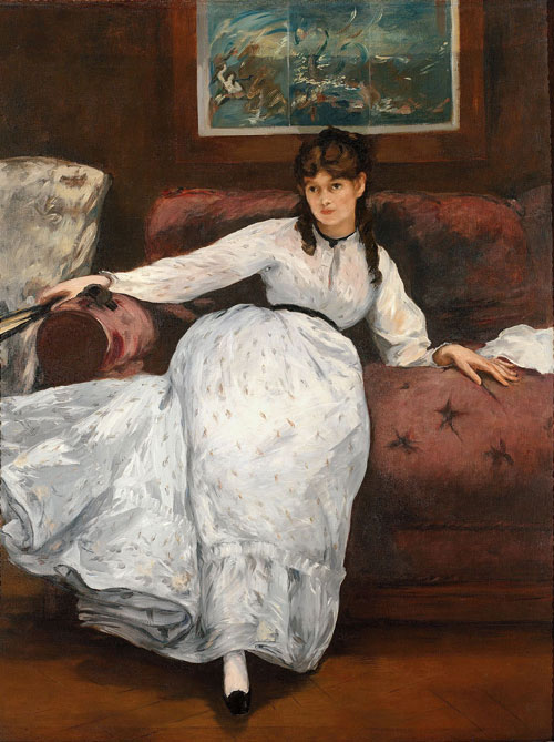 Édouard Manet. Repose, c1871. Oil on canvas, 148 x 113 cm. Museum of Art, Rhode Island School of Design, Providence