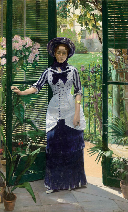 Albert Bartholomé. In the Conservatory (Madame Bartholomé), c1881. Oil on canvas, 233 x 142.5 cm. Musée d'Orsay, Paris. Gift of the Société des Amis du Musée d'Orsay, 1990.