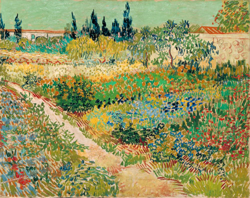 Vincent van Gogh. <em>Garden with Path</em>, 1888. Oil on canvas, 73 x 92 cm. Gemeentemuseum den Haag.