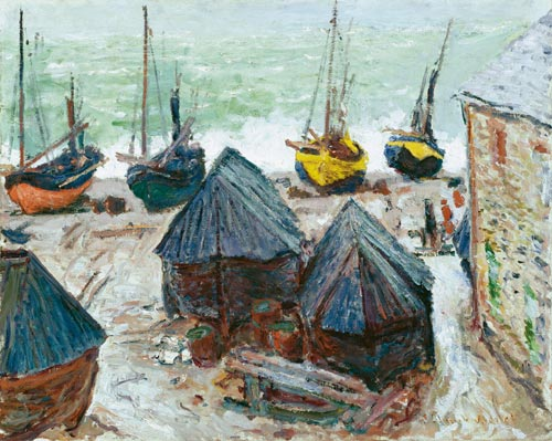 Claude Monet, <em>Boats on the Beach, Etretat</em>, 1885. Oil on canvas, 65 x 81.3cm. Charles H. and Mary F.S. Worcester Collection, 1947.95, The Art Institute of Chicago. Photo © The Art Institute of Chicago.