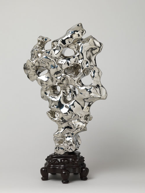 Zhan Wang. Artificial Rock #10, 2001. Stainless steel, H. 29 1/2 in. (75 cm); W. 17 11/16 in. (45 cm); D. 7 1/2 in. (19 cm). Purchase, Friends of Asian Art Gifts, 2006. © Zhan Wang.