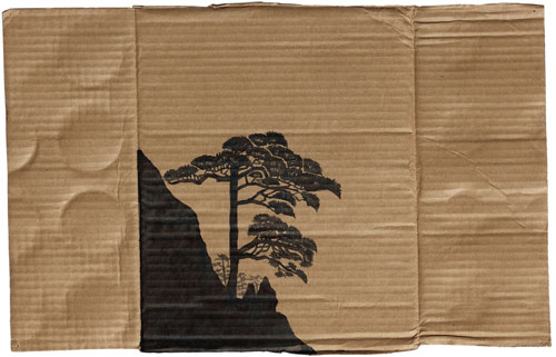 Duan Jianyu. Beautiful Dream 7, 2008. Ink on cardboard, 11 1/2 x 17 1/4 in. (29 x 44 cm). Lent by the Sigg Collection. © Duan Jianyu.