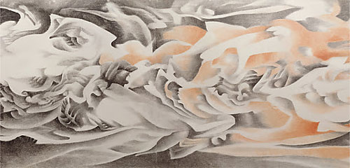 Liu Dan. Ink Handscroll, 1990. Ink and colour on paper, 37 3/4 in. x 58 ft. 4 in. (95.6 x 1780 cm). Lent by The San Diego Museum of Art, Museum purchase, 1998. © Liu Dan.
