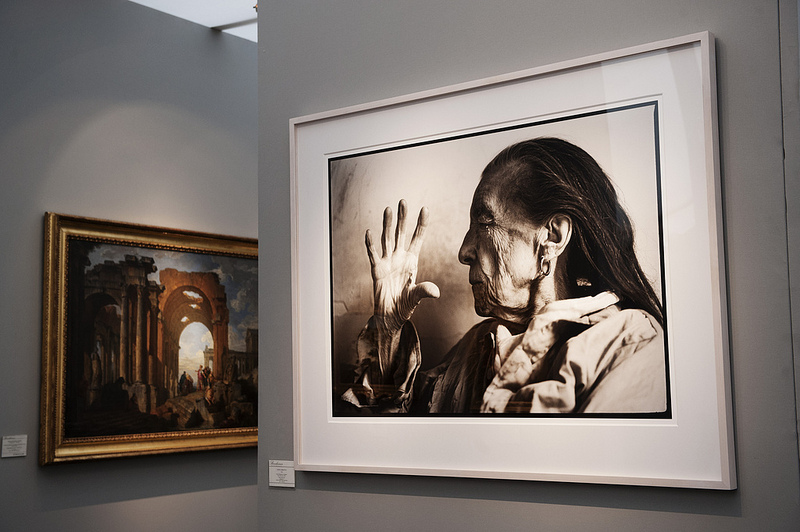 Annie Leibovitz: Louise Bourgeois, 1997. Bernheimer Fine Art Photography, Munich. Frieze Masters 2012. Photograph: Linda Nylind. Courtesy of Linda Nylind/Frieze.