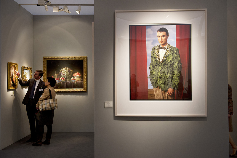 Annie Leibovitz: David Byrne, Los Angeles (1986). Bernheimer Fine Art Photography, Munich. Frieze Masters 2012. Photograph: Linda Nylind. Courtesy of Linda Nylind/Frieze.