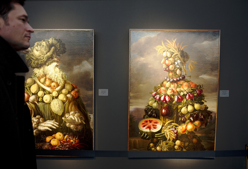 Works by Giovani Stanchi c.1675. Koetser Gallery, Zurich. Frieze Masters 2012. Photograph: Linda Nylind. Courtesy of Linda Nylind/Frieze.