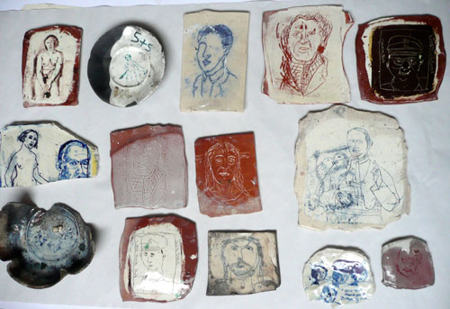 Philip Eglin. <em>Ceramic shards, ceramic test/sample pieces</em>. Courtesy the artist.