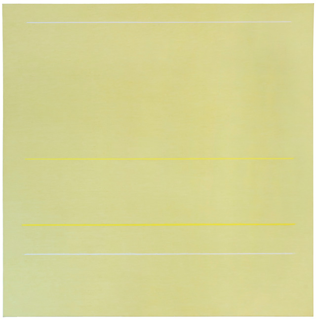 Robert Irwin. Bed of Roses, 1962. Oil on canvas, 66 x 65 in (167.6 x 165.1 cm). Private collection. © 2016 Robert Irwin/Artists Rights Society (ARS), New York.