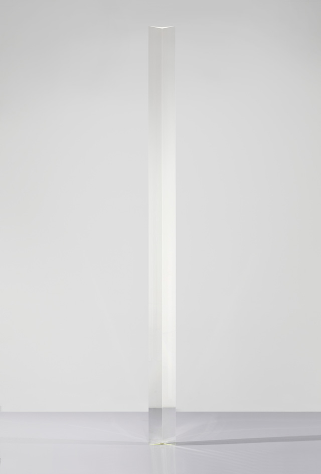 Robert Irwin. Untitled, 1970–71. Acrylic, 145 5/8 x 9 3/8 x 3 ½ in (369.9 x 23.5 x 8.9 cm). Hirshhorn Museum and Sculpture Garden, Washington, DC. Joseph H. Hirshhorn Purchase Fund, 2007; The Panza Collection. © 2016 Robert Irwin/Artists Rights Society (ARS), New York. Photograph: Cathy Carver.