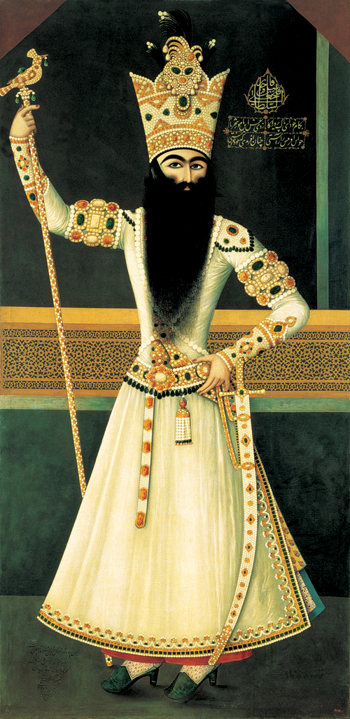 Qajar Ruler Fath Ali Shah. © The State Hermitage Museum, St Petersburg