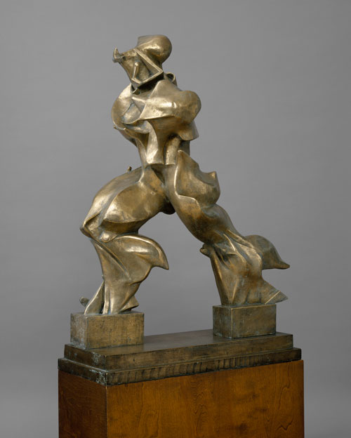 Umberto Boccioni. Unique Forms of Continuity in Space (Forme uniche della continuità nello spazio), 1913 (cast 1949). Bronze, 121.3 x 88.9 x 40 cm. The Metropolitan Museum of Art, New York, Bequest of Lydia Winston Malbin, 1989. Image Source: Art Resource, New York © The Metropolitan Museum of Art.