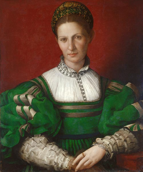Bronzino,<em> Portrait of a Lady in Green</em>, c.1528-32, the Royal Collection © 2007, Her Majesty Queen Elizabeth II