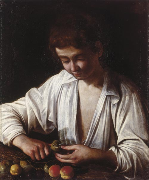 Caravaggio,<em> Boy Peeling Fruit</em>, c.1592-3, the Royal Collection © 2007, Her Majesty Queen Elizabeth II