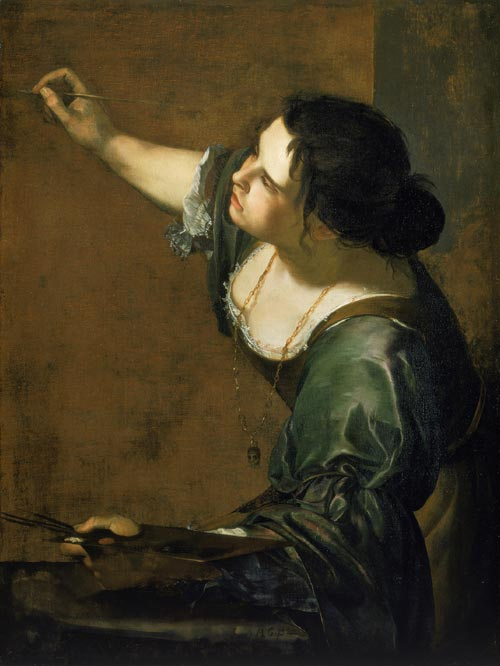 Gentilsechi,<em> Self-portrait as the Allegory of Painting</em>, c.1638-9, the Royal Collection © 2007, Her Majesty Queen Elizabeth II
