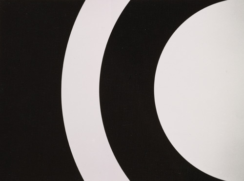 Omega, painting, 1961. Alexander Liberman papers, Archives of American Art, Smithsonian Institution.
