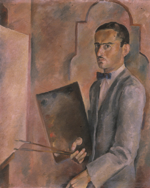 Self portrait, 1936. Alexander Liberman papers, Archives of American Art, Smithsonian Institution.