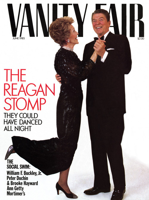 Vanity Fair cover, Photograph: Harry Benson, 1985. Vanity Fair © Conde Nast Publications.