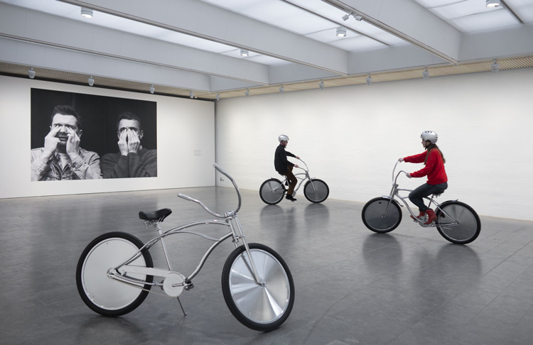 Ann Veronica Janssens, Bike, 2001. Installation view at Louisiana Museum, Copenhagen, 2019. Photo: Poul Buchard / Brøndum & Co.