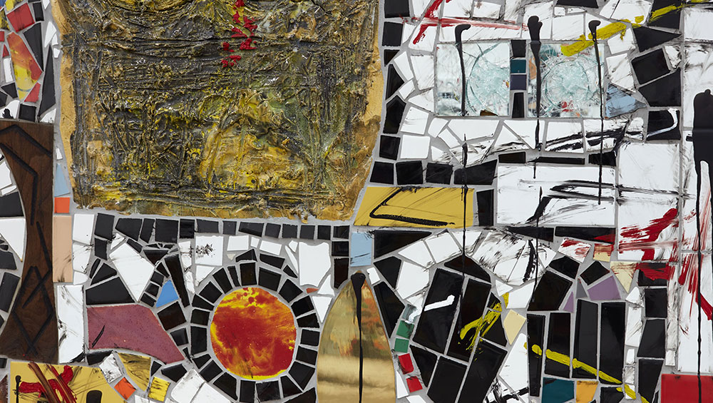 Is the message of Rashid Johnson's new show helped or hindered by the repetitive motifs and elaborate detail?